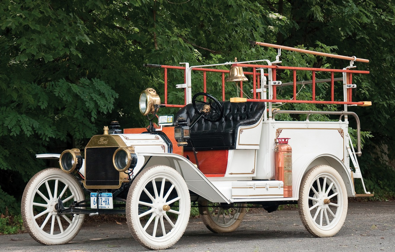 Photo wallpaper Ford, Ford, rarity, fire truck, Firetruck, Model T, Model T