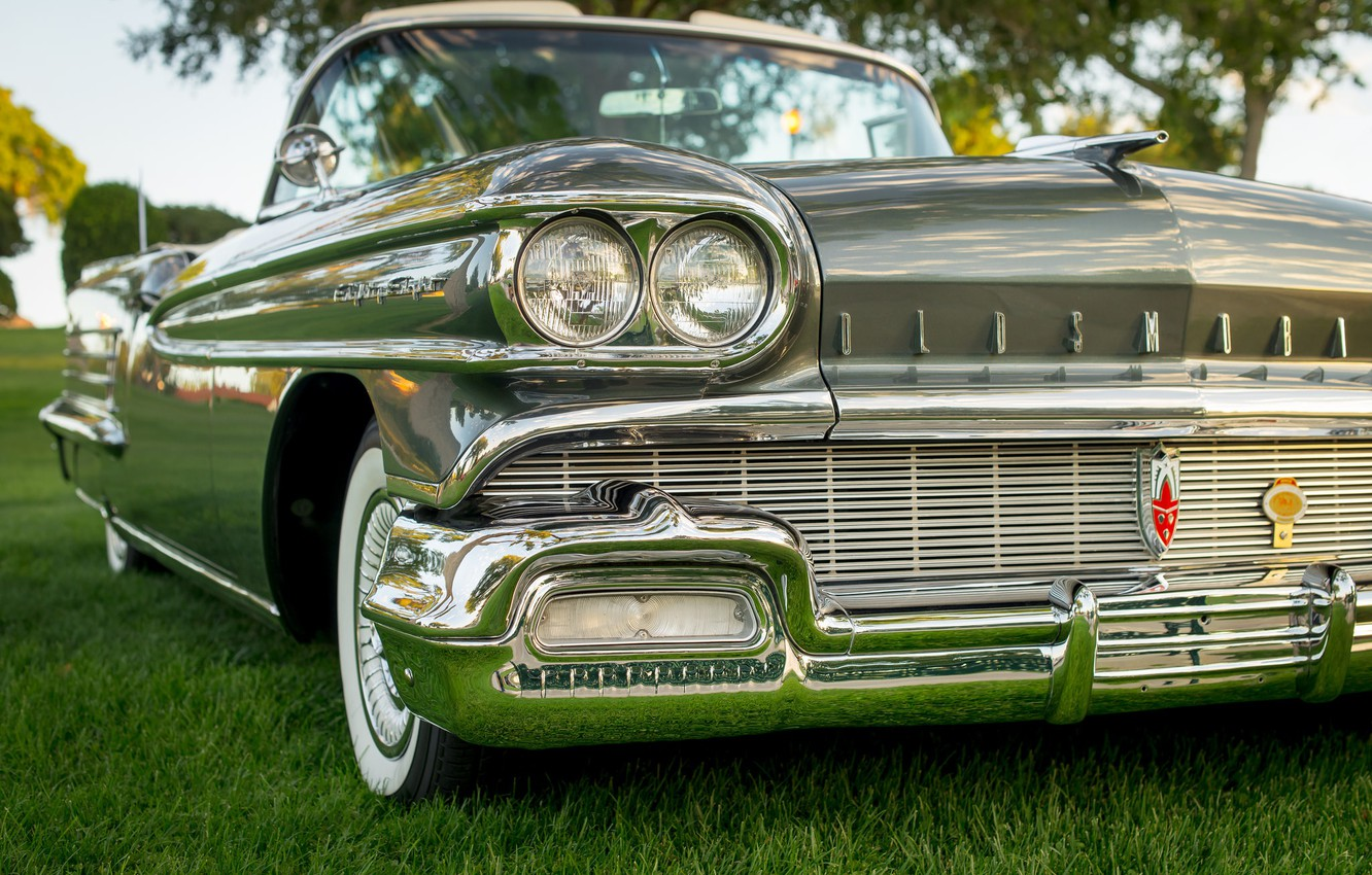 Photo wallpaper lights, the front, Oldsmobile, 1958
