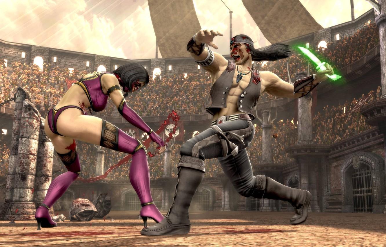 Photo wallpaper Mortal Kombat, MK9, Mileena, Nightwolf
