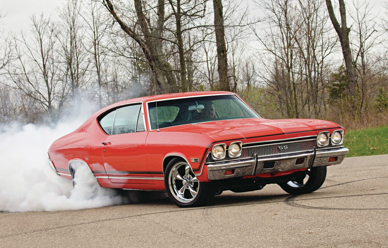 Photo wallpaper Wallpaper, Chevrolet, Muscle, Car, wallpapers, 1968, Chevelle