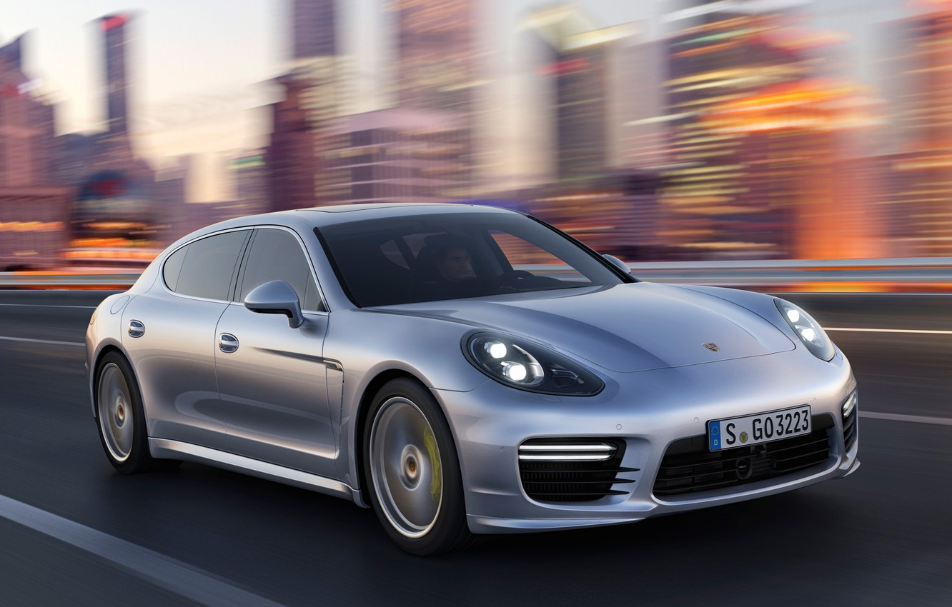 Photo wallpaper speed, Porsche, Panamera, Porsche, Panamera, Turbo, turbo