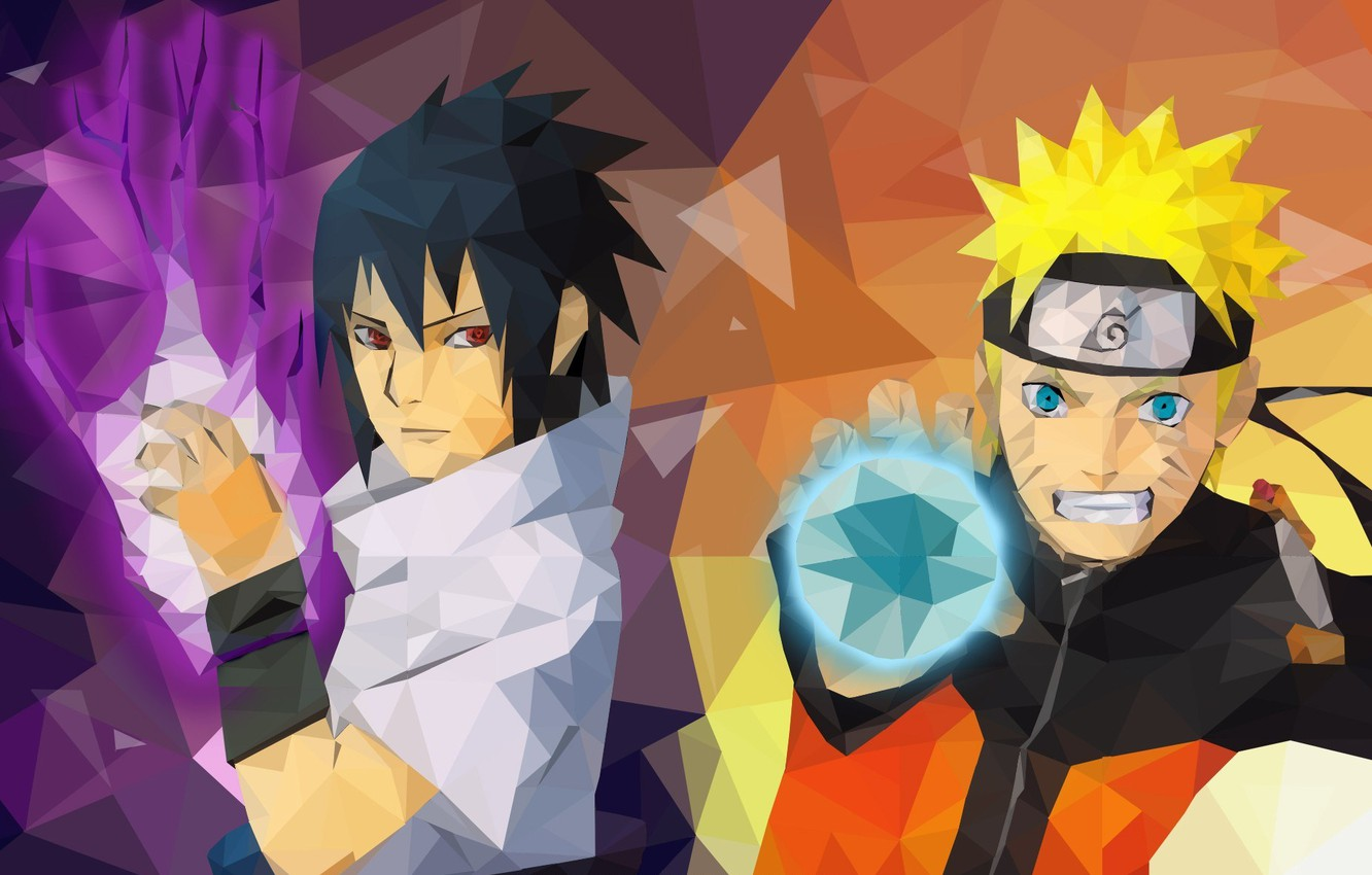Wallpaper Fire Game Sasuke Naruto Hat Smile Anime Mosaic