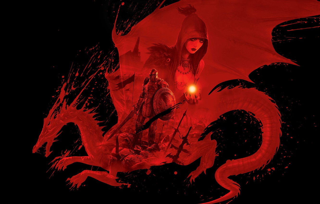 Wallpaper Red Dragon Dragon Age Origins Dungeons Dragons D