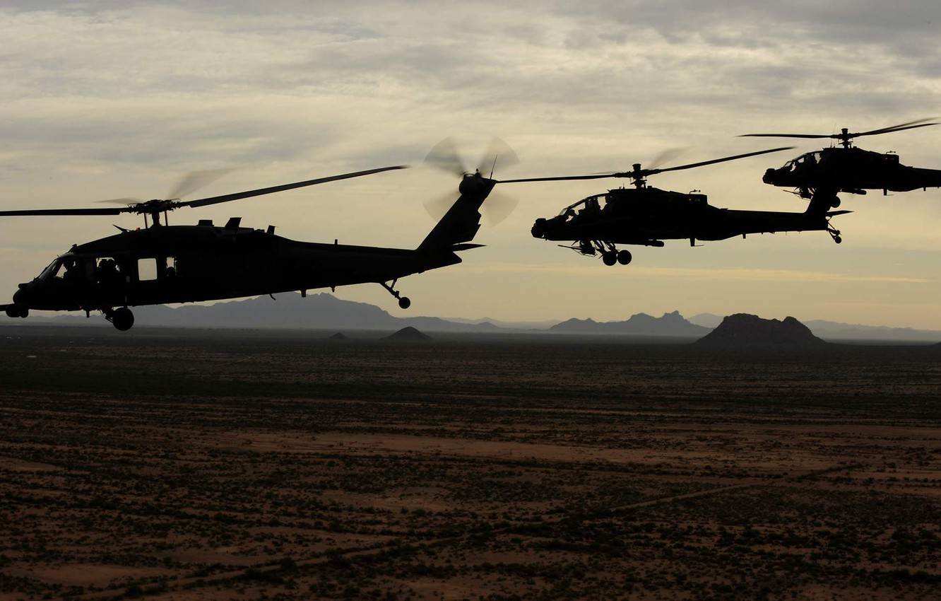 Wallpaper Usa Army Ah 64 Apache Uh 60 Black Hawk Images For