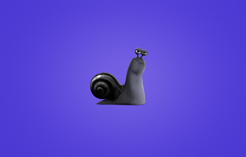 Wallpaper snail, minimalism, Turbo, purple background, Turbo