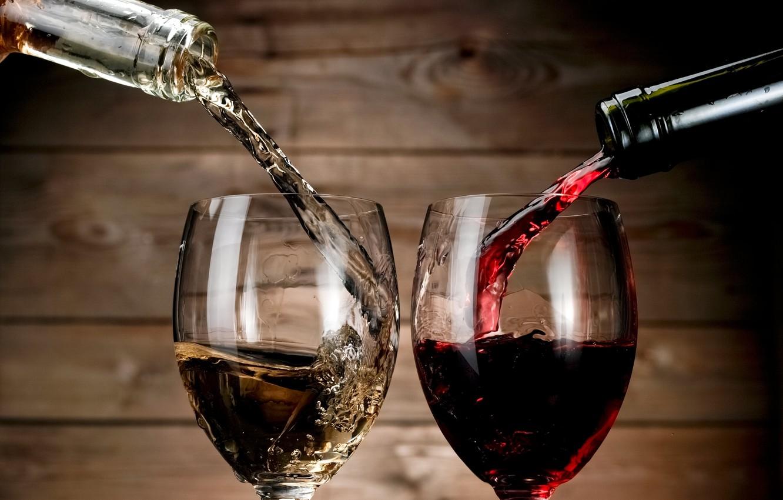 Photo wallpaper glass, wine, bottles, cellar