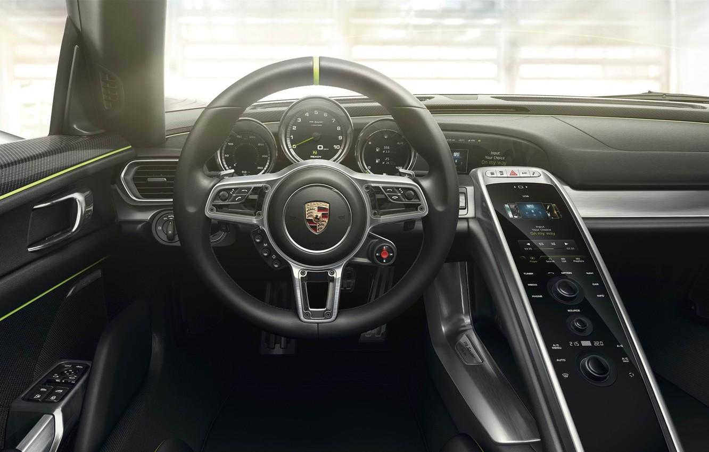 Photo wallpaper Porsche, 918, Spyder Interior