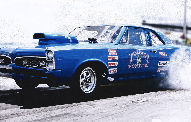 Photo wallpaper race, drag, drag, racing, Pontiac, pontiac gto 67