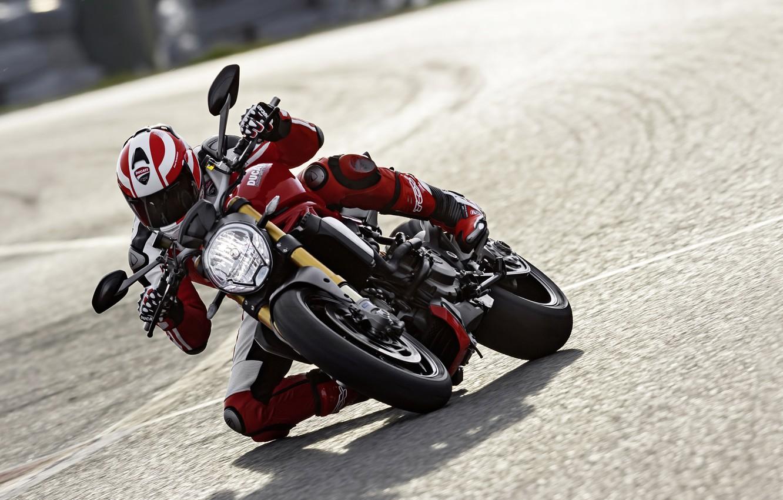 Photo wallpaper red, Ducati, Monster, moto, road, bike, Legend, speed, classic, ride