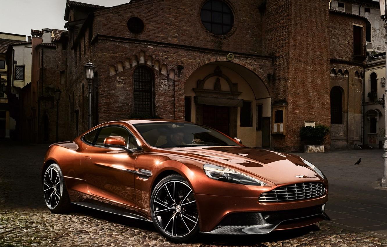 Photo wallpaper background, Aston Martin, the building, supercar, the front, Aston Martin, beautiful car, AM 310, Vanquish, …