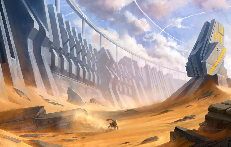 Fantasy Desert Tower Art