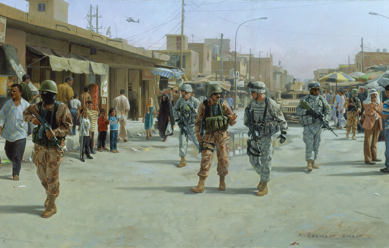 Photo wallpaper the city, war, 2005, Iraq, Mahmudiya, September 27