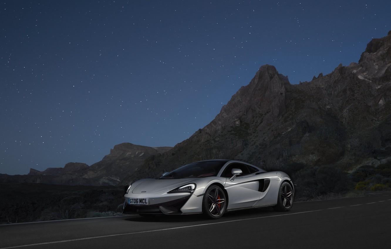 Photo wallpaper McLaren, silver, silver, supercar, supercar, McLaren, 570GT