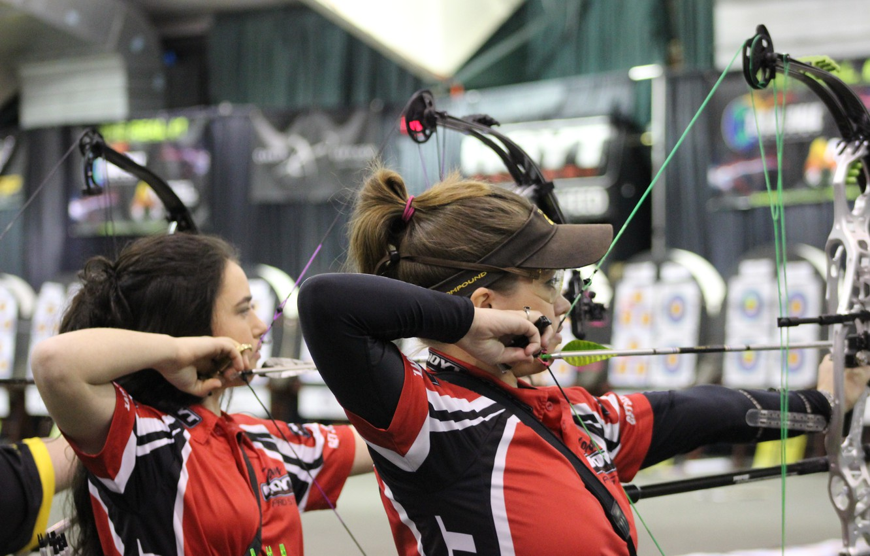Photo wallpaper women, arrows, shooting, archery