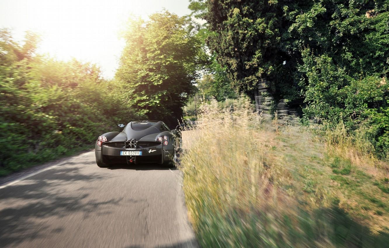 Photo wallpaper Pagani, Speed, Road, Supercar, To huayr, Rear