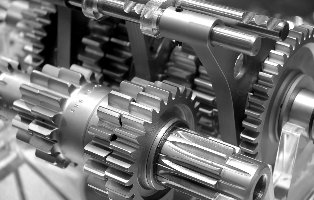 Photo wallpaper macro, mechanism, gear
