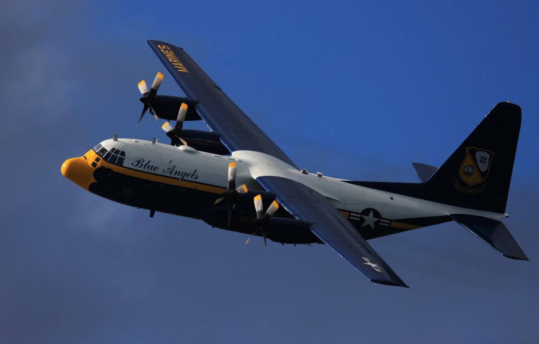 Photo wallpaper Lockheed C-130 Hercules, Blue Angels, Fat Albert