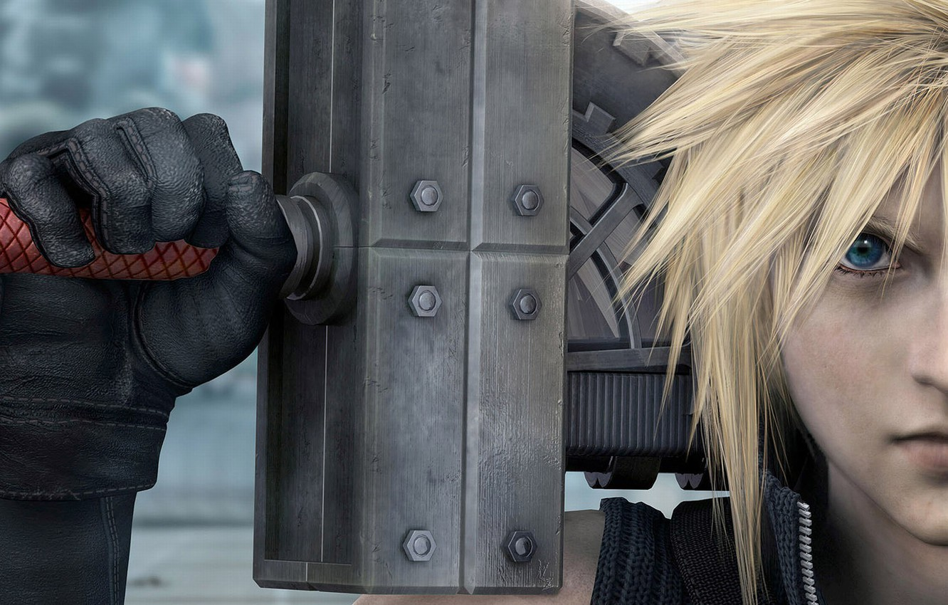 Photo wallpaper weapons, guy, Stryfe, Cloud, advent children, cloud strife, final fantasy, finalka