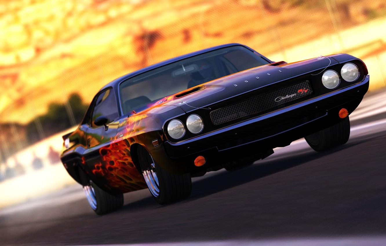 Photo wallpaper Dodge, Challenger, Legend, Musclecar