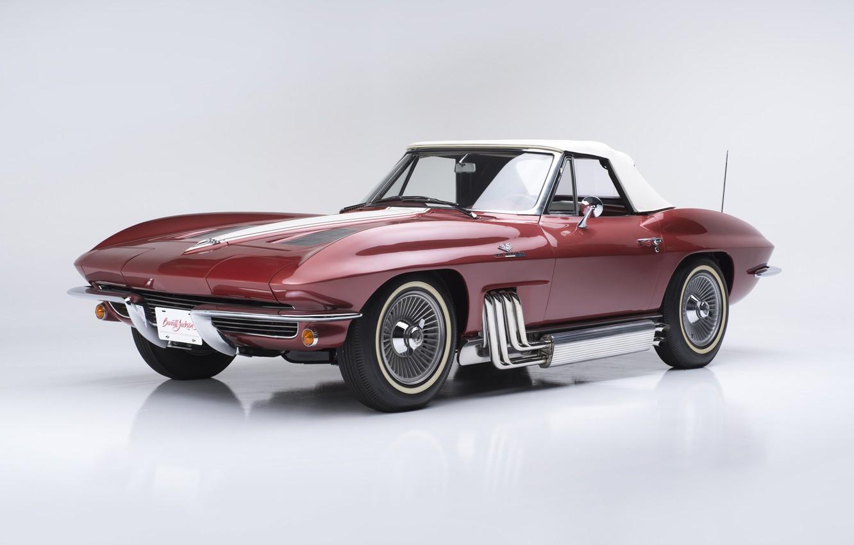 Photo wallpaper Corvette, Chevrolet, Chevrolet, Sting Ray, Corvette, Convertible, 1963, Replica, Show Car