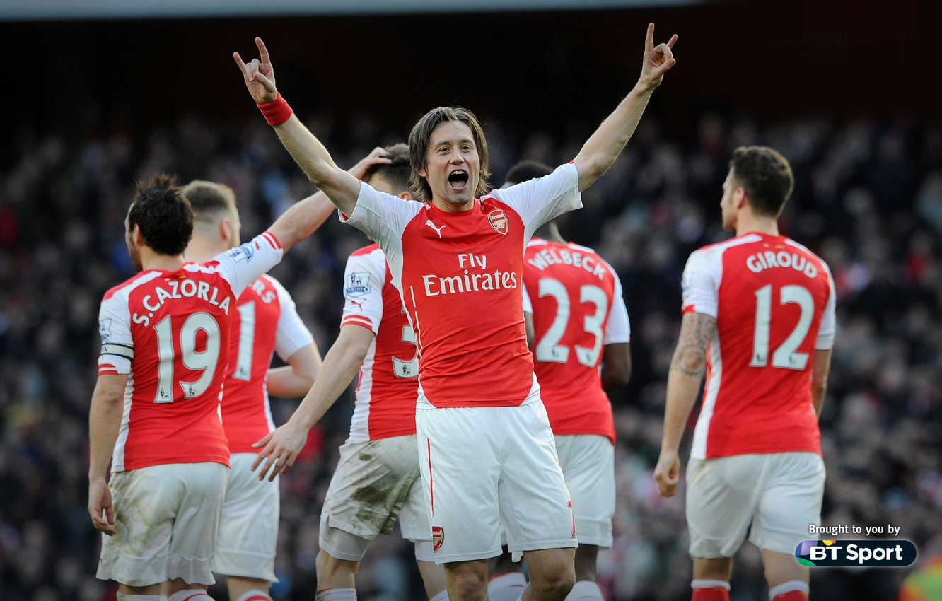 Wallpaper Background Arsenal Players Arsenal Football Club The Gunners The Gunners Football Club With Santi Cazorla Danny Welbeck Tomas Rosicky Olivier Giroud Waist Of Hector Calum Chambers Images For Desktop Section Sport