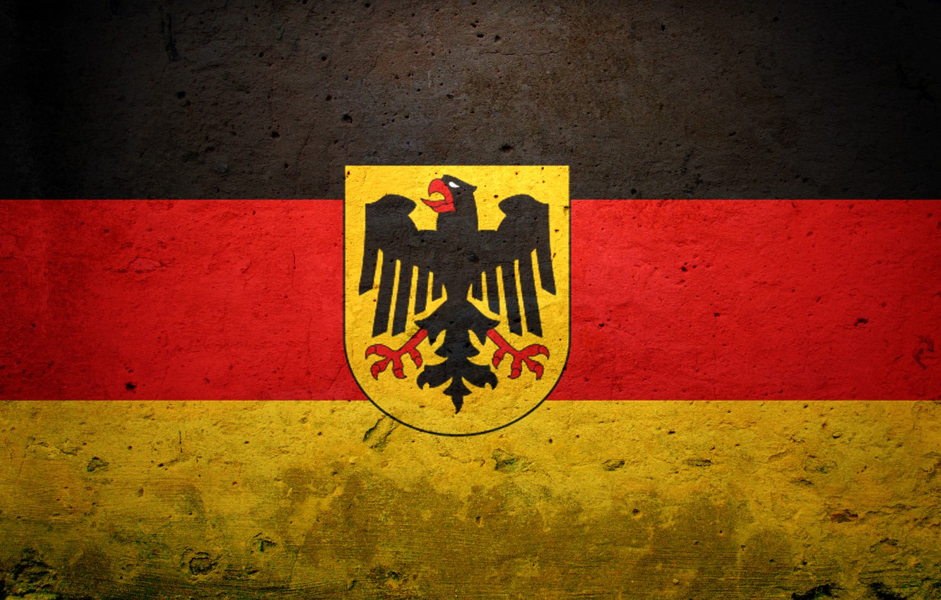 Photo wallpaper Germany, flag, coat of arms