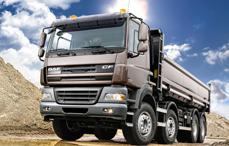 Photo wallpaper Truck, DAF, Wheel, DAF, Dump truck, CF85.460, ЦФ85.460, Tipper