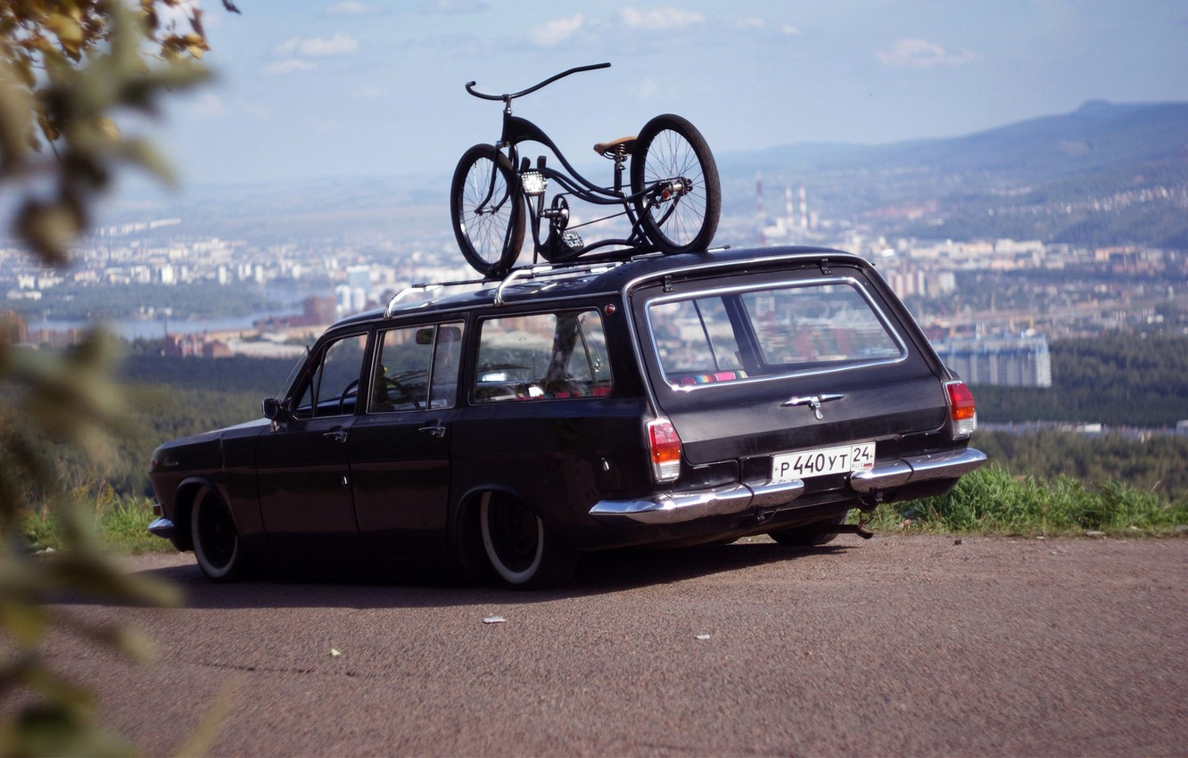 Photo wallpaper USSR, BIKE, The CITY, RARITY, GAS, DAL, LANDSCAPE, FRAME, VOLGA
