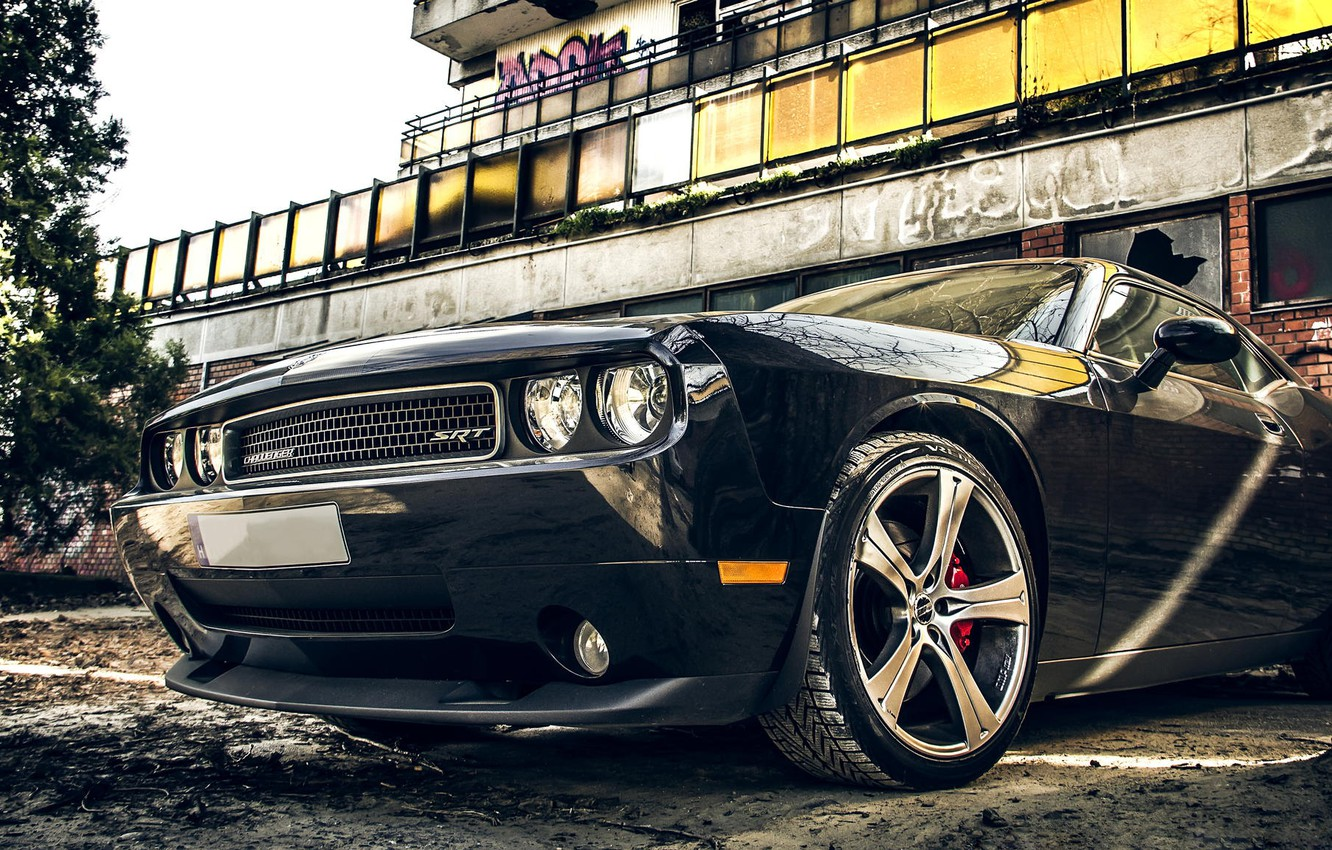 Photo wallpaper car, auto, tuning, Dodge, Challenger, Dodge, muscle car