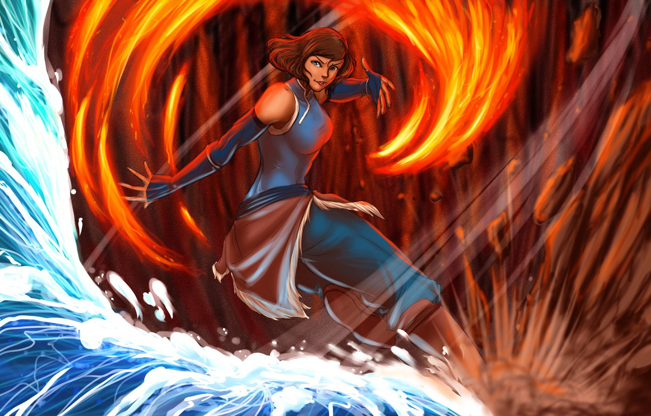 Photo wallpaper water, fire, earth, the air, art, Times, The Legend of Korra, Avatar: the Legend of …