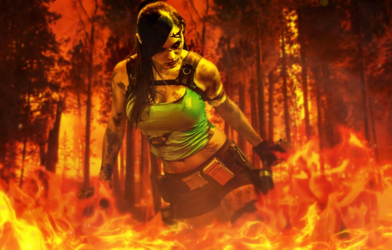 Photo wallpaper Tomb Raider, Games, Lara Croft, Honnoror