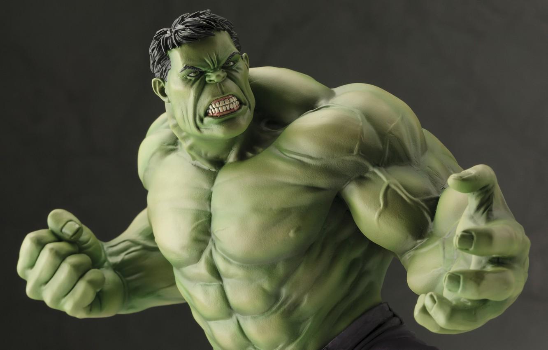 Photo wallpaper Hulk, design, Marvel, details, doll, high quality