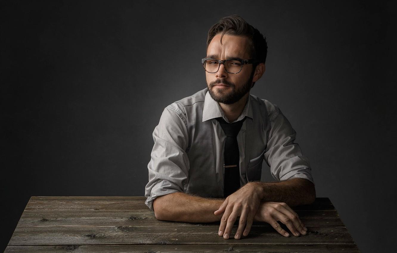 Photo wallpaper portrait, glasses, Studio