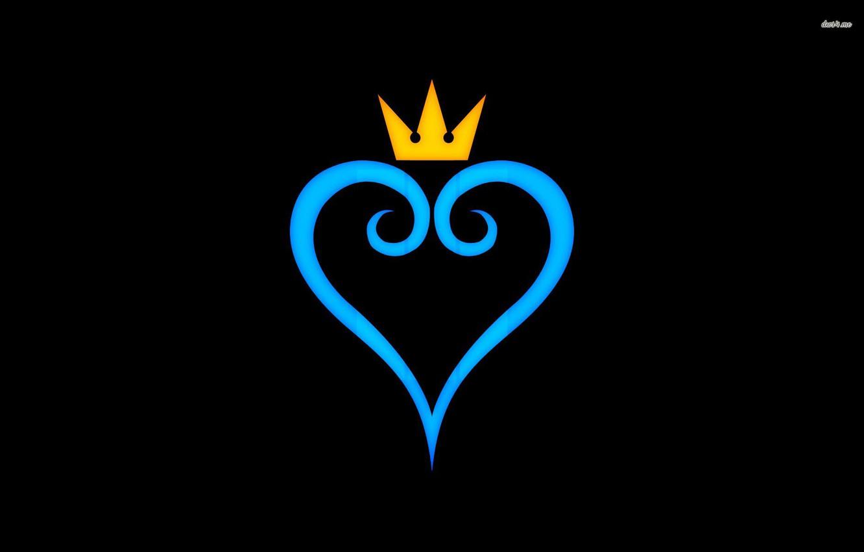 Photo wallpaper Love, Blue, Black, Kingdom Hearts