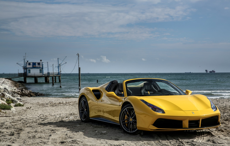 Photo wallpaper Ferrari, convertible, Ferrari, spider, Spider, 488