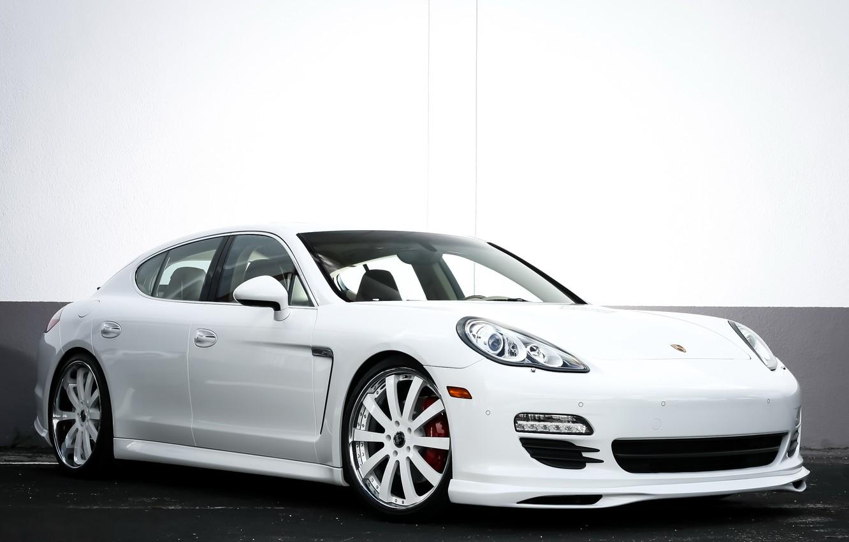 Photo wallpaper Porsche, Panamera, white