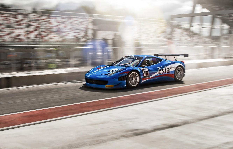 Photo wallpaper Ferrari, race, ferrari 458 italia, fia gt3