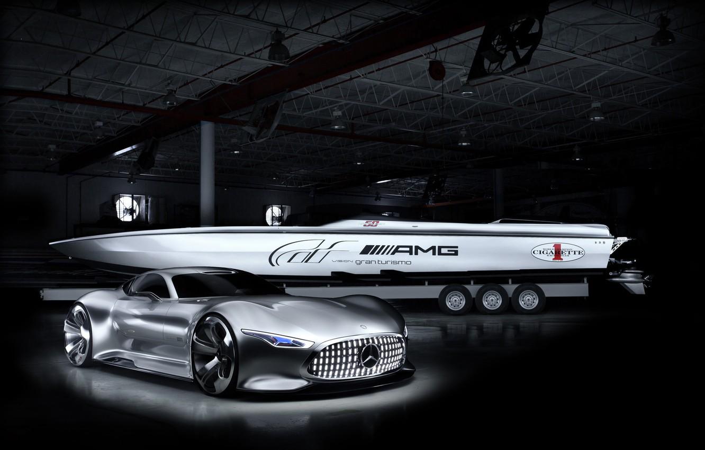 Photo wallpaper Concept, Auto, Mercedes, The concept, Mercedes, Benz, Auto, Racing, Benz, Vision GT, Cigarette