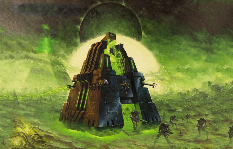 Photo wallpaper warriors, warhammer 40k, monolith, Necrons, necrons