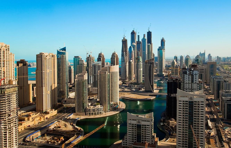 Photo wallpaper construction, building, Dubai, UAE