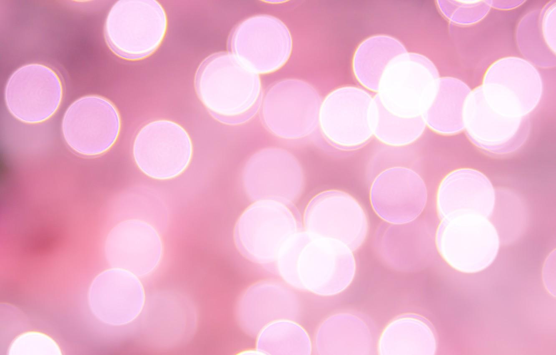 Photo wallpaper circles, pink, bokeh