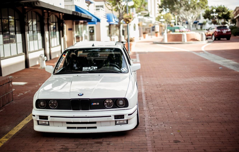 Photo wallpaper BMW, White, E30, 3 Series, Macro