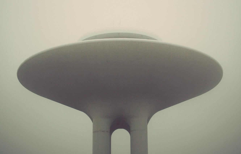 Photo wallpaper fog, plate, object