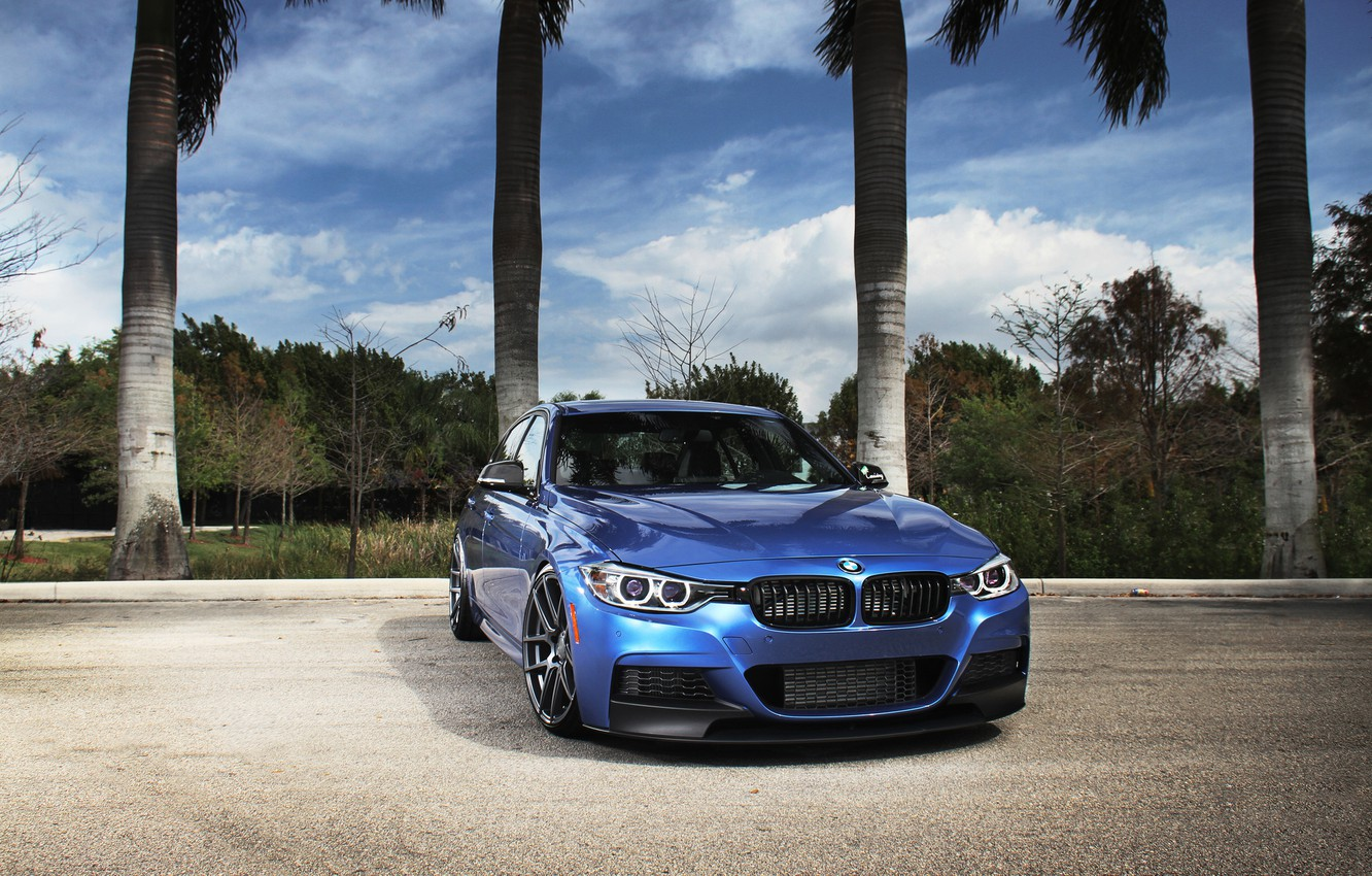 Photo wallpaper blue, BMW, BMW, blue, tuning, F30, The 3 series