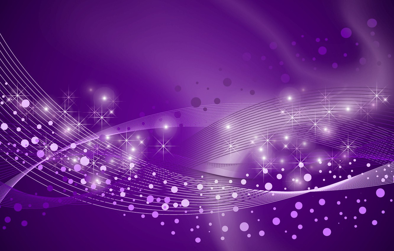 Photo wallpaper line, circles, stars, purple background