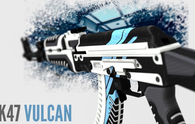 Photo wallpaper Background, Weapons, Gun, Valve, AK-47, Counter Strike, Steam, Skin, Weapon, CS:GO, Global Offensive, Vulcan, Workshop