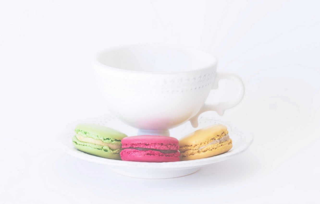 Photo wallpaper background, cookies, Cup