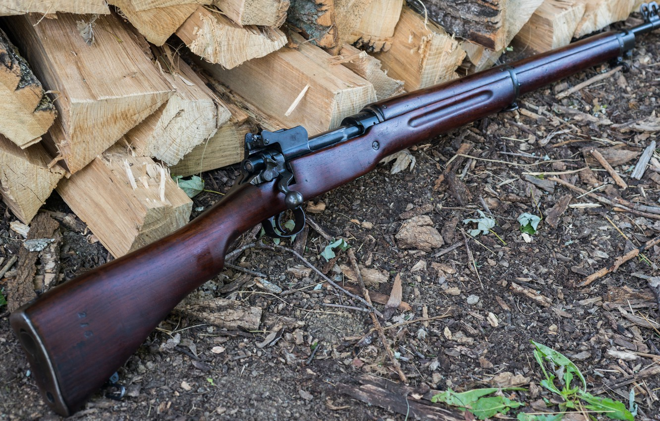 Photo wallpaper weapons, rifle, M1917, store, Enfield