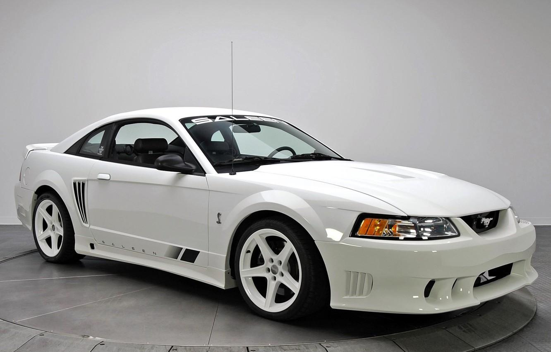 Photo wallpaper white, Mustang, Ford, Saleen, Mustang, white, 1999