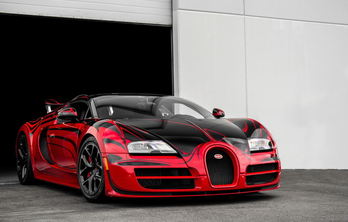 Wallpaper Bugatti Grand Veyron Sport Rouge Aka Hellbug Speed
